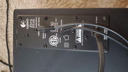 Logitech Z313 Speakers And Mini Sub Thumbnail