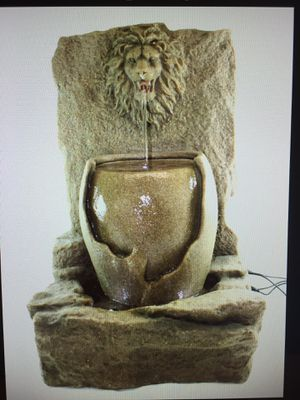 Lion Head Vase Water Fountain 21 Inches Height For In Chino Hills Ca Offerup