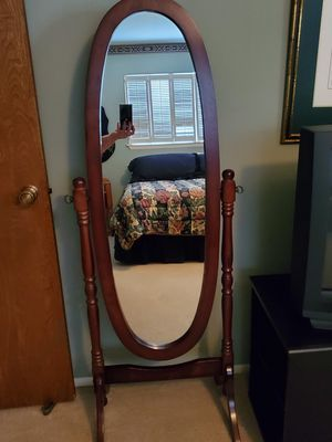 Photo Full Length Oval Mirror All Wood