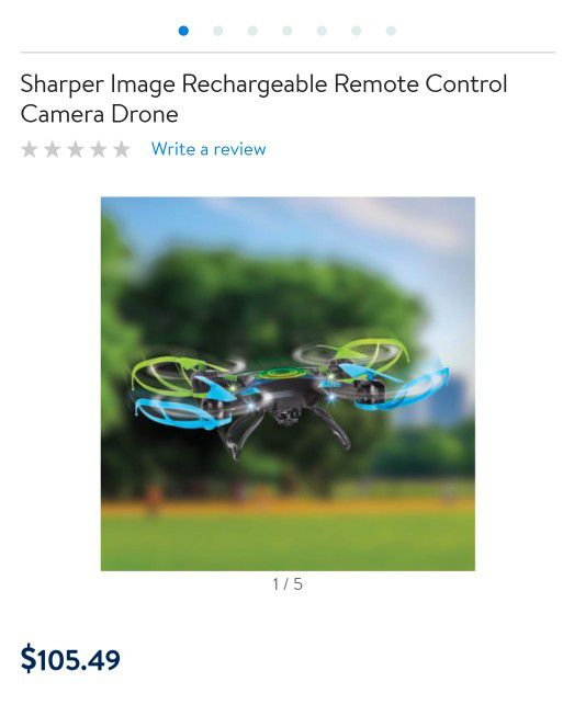 Sharper Image Rechargeable Remote Control Camera Drone For Sale In