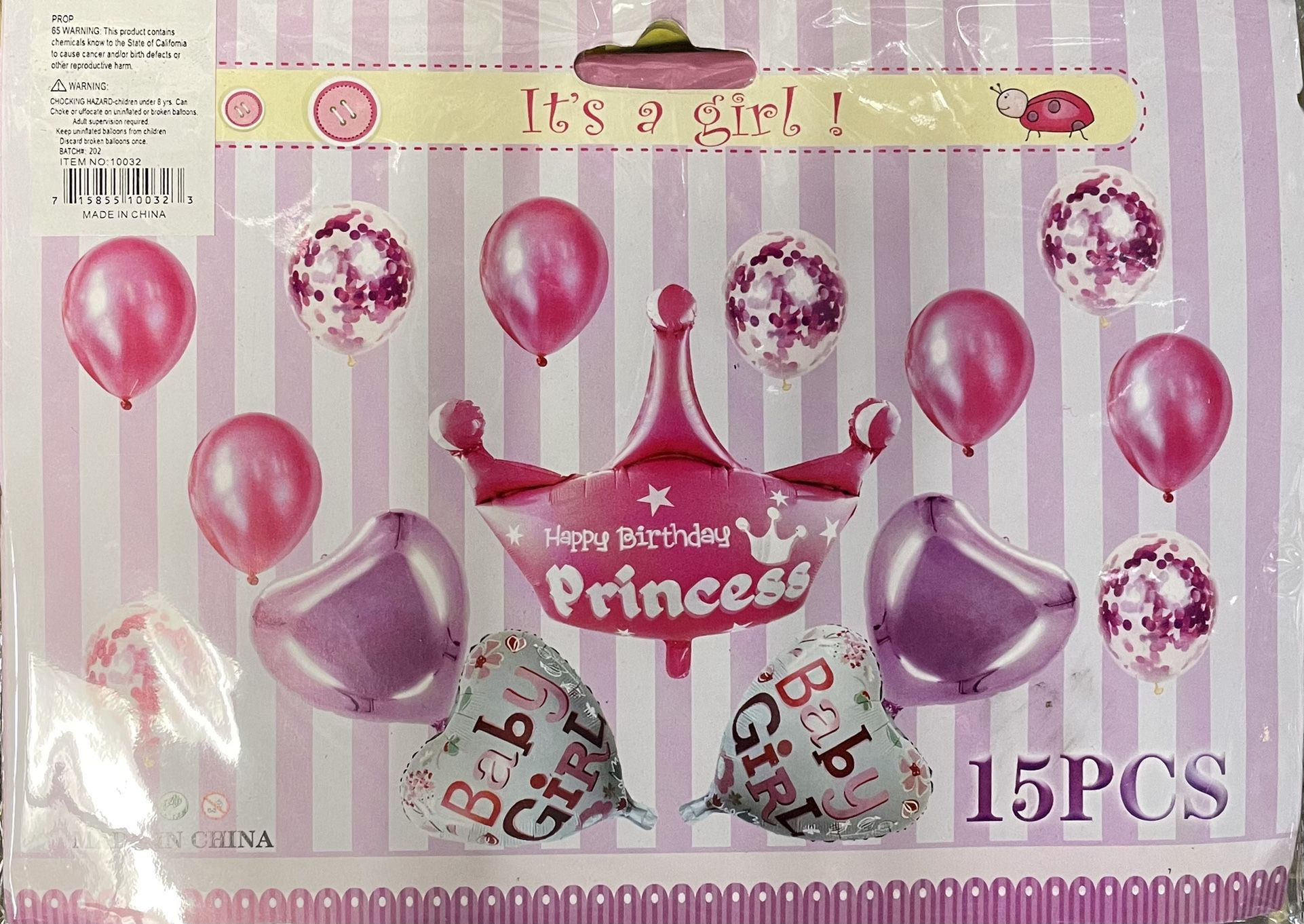 Happy Birthday Girl Balloon Set