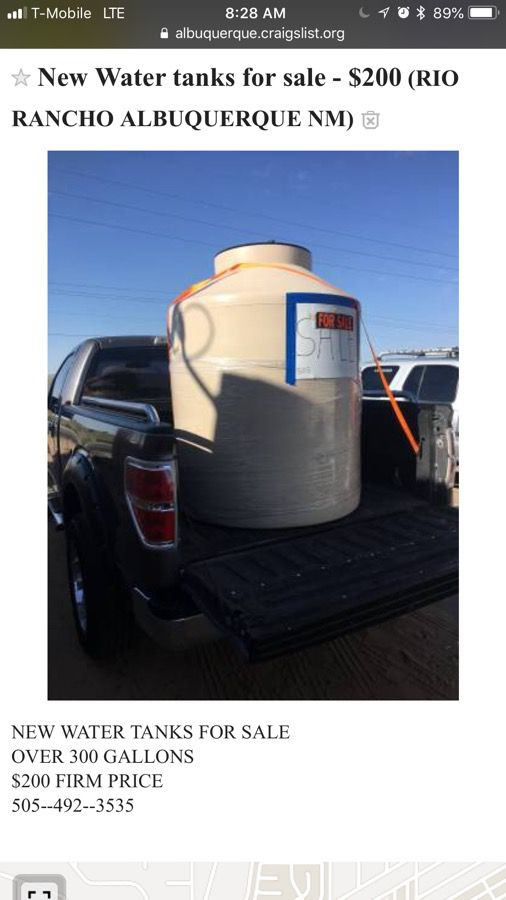 Fresh water tank for Sale in Albuquerque, NM - OfferUp