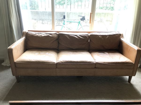 West Elm Hamilton Leather Sofa 81