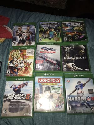9 Xbox One games all Fully functional for Sale in Alexandria, VA