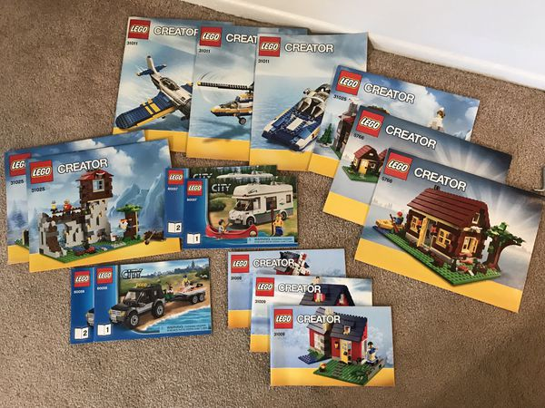 Lego Creator Instruction Books Only For Sale In Tempe Az Offerup