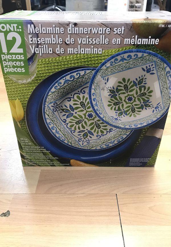 Costco Melamine Dinnerware Set for Sale in Miami, FL - OfferUp