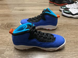 Photo Air Jordan 10 Retro size 6y (GS) $60 310806-408 Racer Blue/ Team Orange-Black No Box