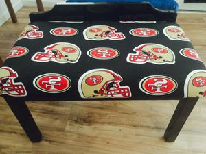 49 ers bench 31 x19x19 $45 firm!!! for Sale in San Francisco, CA