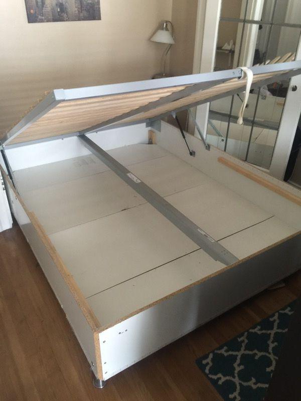 Queen Size bed frame. IKEA Sultan Alsarp storage bed. (Sports ...