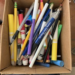 Box Of Pens And Pencils And Markers  Thumbnail