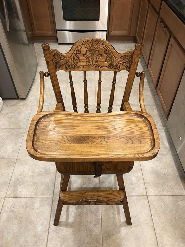 Antique wooden high chair - Antique Wooden High Chair For Sale In Sloan, NV - OfferUp