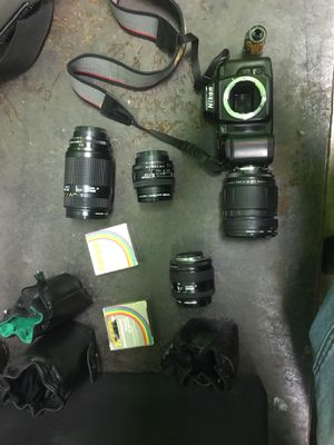 Nikon camera and lens (from Japan) for Sale in Silver Spring, MD
