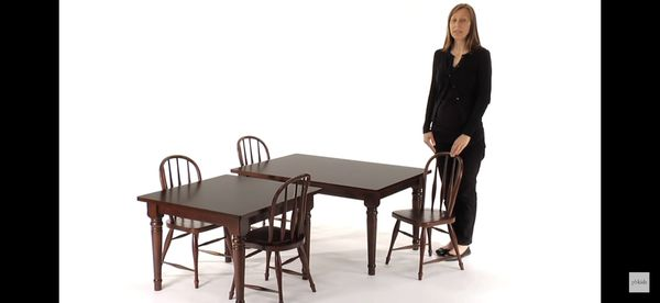 Pottery Barn Kids Large Espresso Farmhouse Table with 2 chairs for
