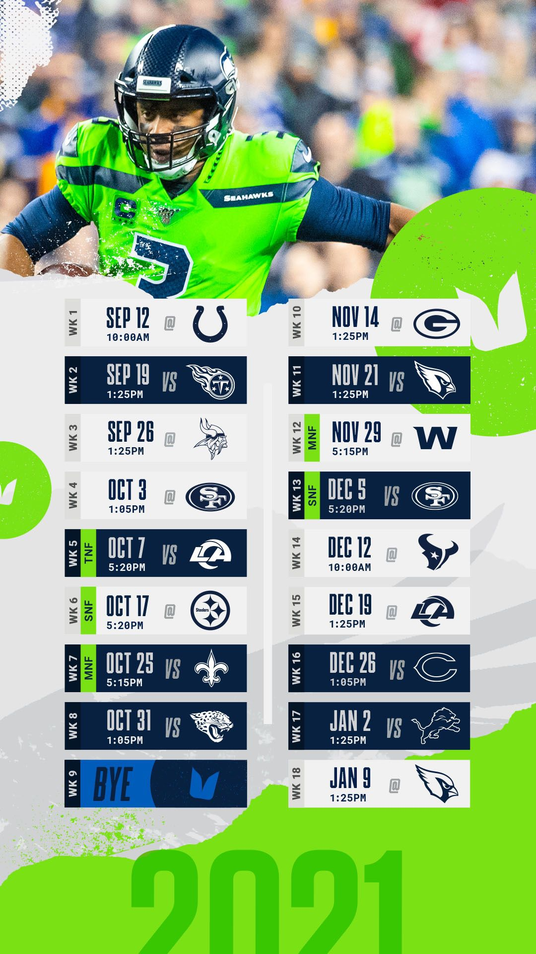 Seahawks Tickets 4 Seats Vs Rams 10/07 And Other Games