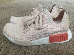 Photo Adidas NMD R1 STLT Primeknit Boost Women's Size 8.5 'Linen/White' CQ2030 Brand New! No Box.