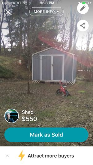 10x10 shed. Few months old great shape for Sale in Eldersburg, MD