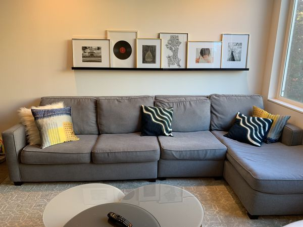 West Elm Henry Sectional Sofa - Grey for Sale in Seattle, WA - OfferUp