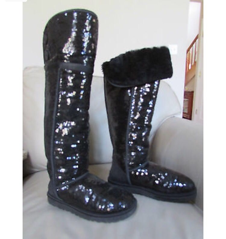 Over the knee sequin Bailey button size 8