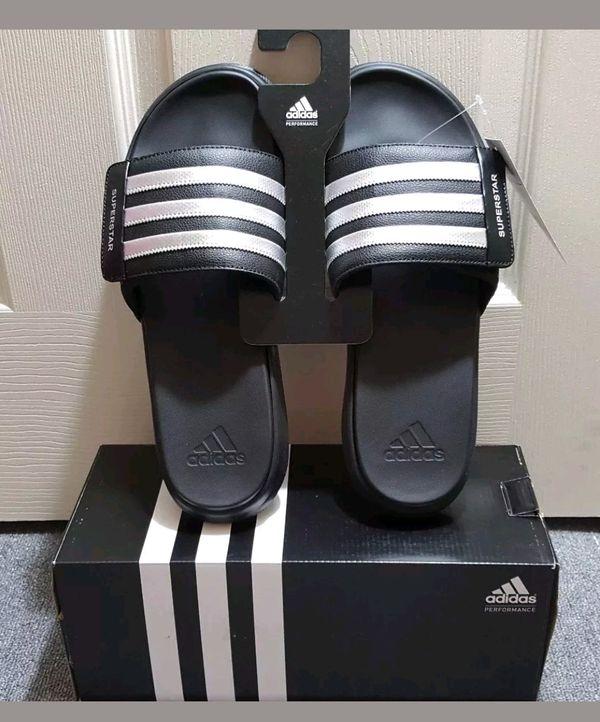 low priced f3c1c 51697 Men s Adidas Performance Superstar 4g Athletic Slides Sandal AQ5893