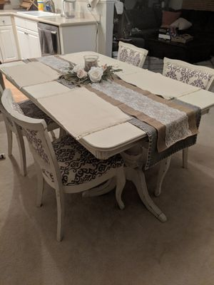 White rustic dining table for Sale in Herndon, VA