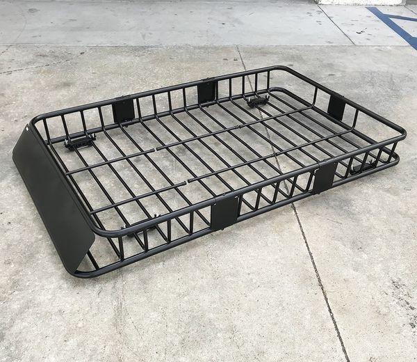 New $110 Universal Roof Rack Car Top Cargo Basket Carrier