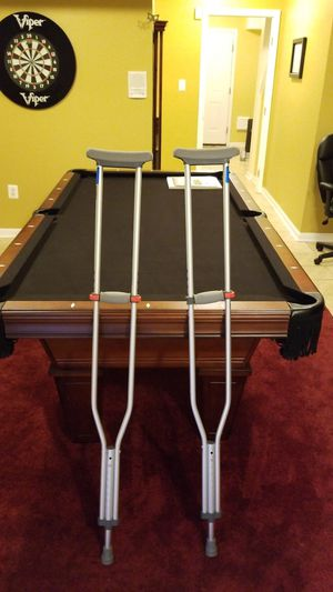 Aluminum adjustable crutches for Sale in Gainesville, VA