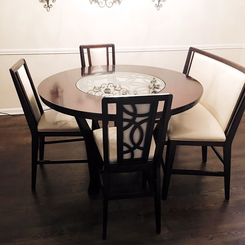 Cindy Crawford Home Highland Park Ebony, Highland Park Dining Room Set