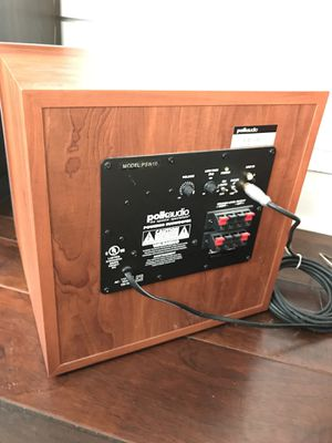 Polk audio PSW10 10 inch powered subwoofer in cherry for Sale in Washington, DC