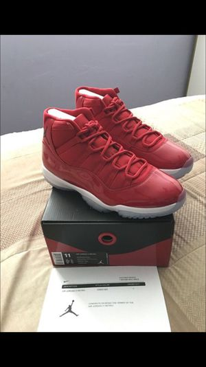 "5f11a4ec3ee0fa Jordan Retro 11 ""Win Like 96 "" Gym Red for Sale in Newark"