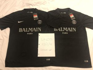 78bdb60cfc7 Nike x Balmain x PSG Custom Soccer Jersey - Large for Sale in San Francisco,