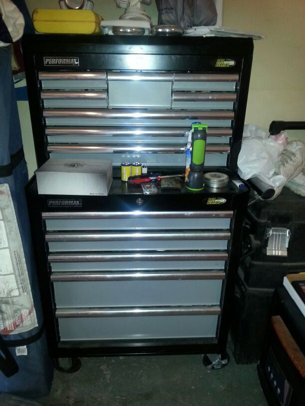 13 drawer tool box. performax brand from menards. paid $150 new ...