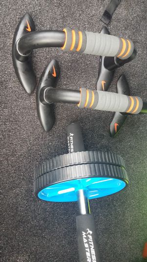 Abs Six pack roller a machine and push up stands for Sale in Alexandria, VA