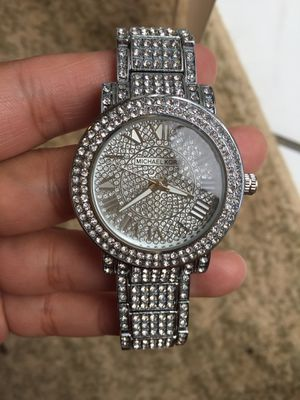 Mk Michael Kors diamond crystal watch silver gold Tone unisex for Sale in Silver Spring, MD