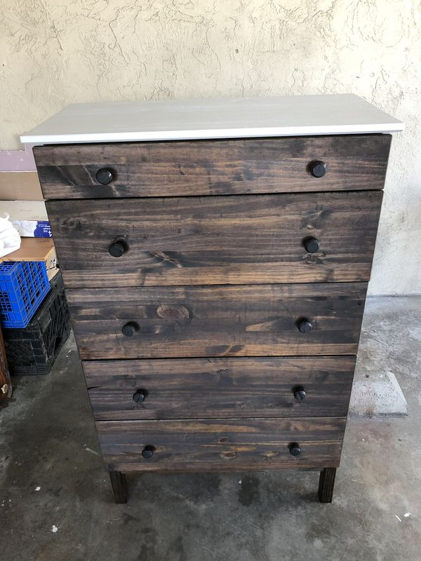 Paint And Stained Tarva 5 Drawer Chest Pinewood 80 For