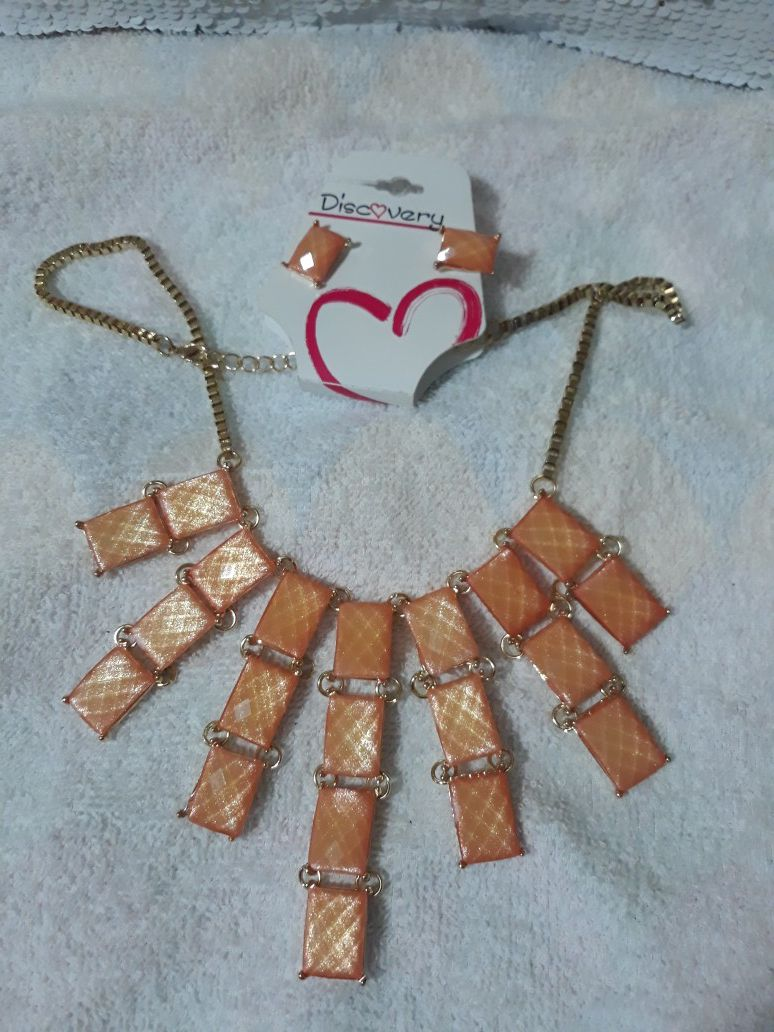 Necklace and earrings new