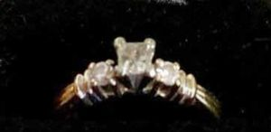 Princess Cut Diamond Ring Three Stones 1/3 TCW for Sale in Clermont, FL