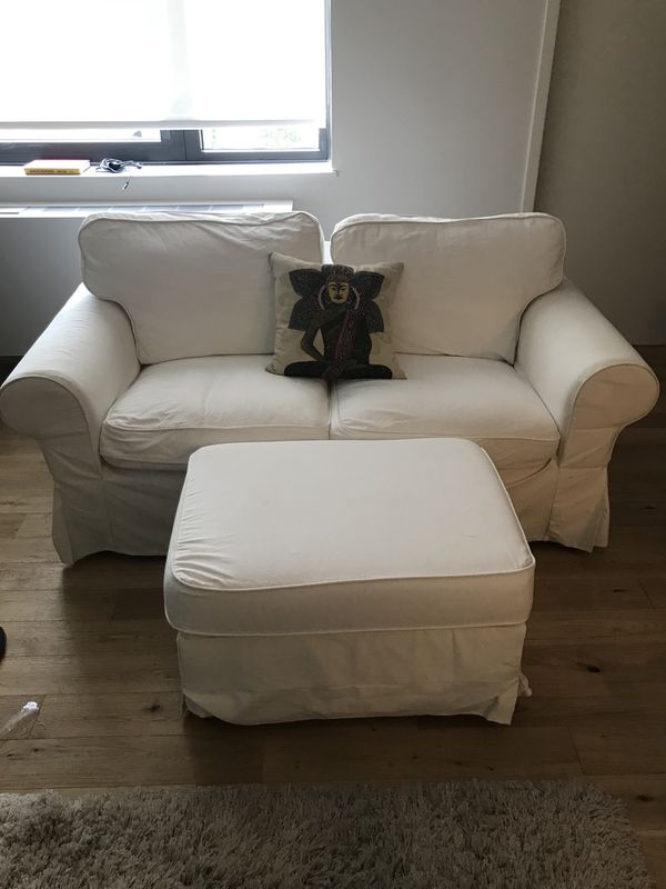 Ikea Ektorp Loveseat Ottoman For Sale In New York Ny Offerup