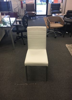 Set of 4 white chairs for Sale in Springfield, VA