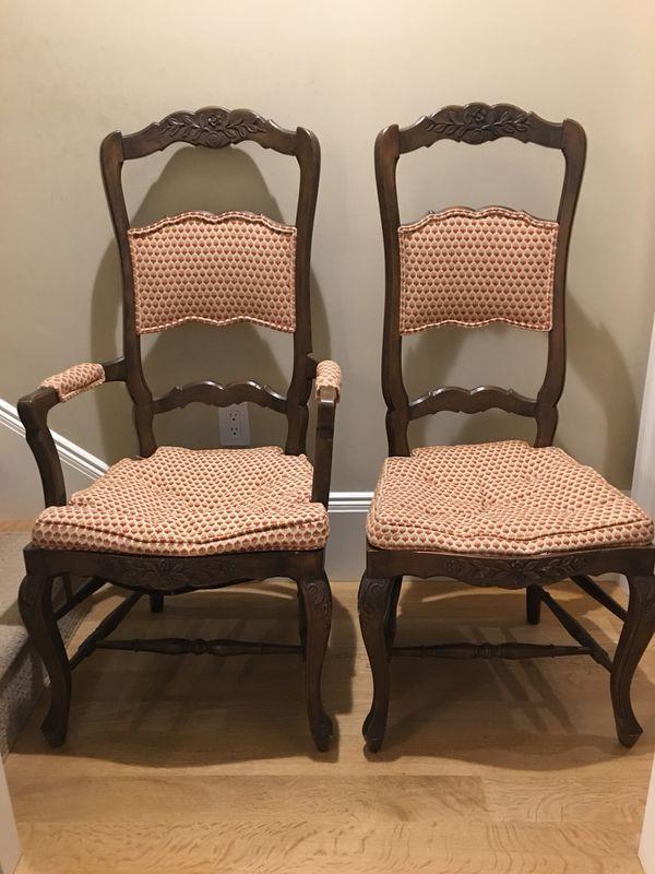 Baker Furniture Ladder Back Chairs Pair San Francisco