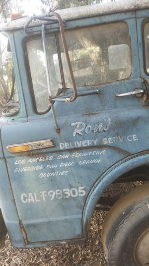 Photo Old ford COE hand painted door patina man cave