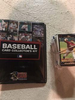 100+ baseball cards and collectors kit Thumbnail