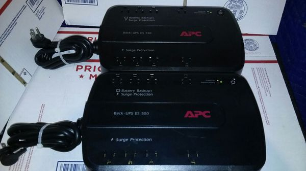 APC BACK-UPS ES 550 BATTERY BACKUP PLUS SURGE PROTECTION W/NEW BATTERIES  (LOT OF 2) for Sale in Oceanside, CA - OfferUp