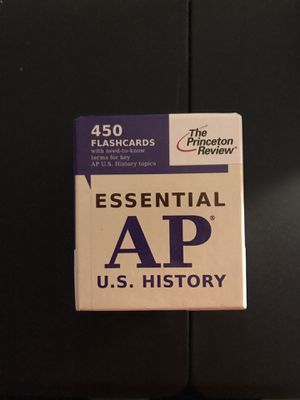AP US history review flash cards Princeton review for Sale in Lake Ridge, VA