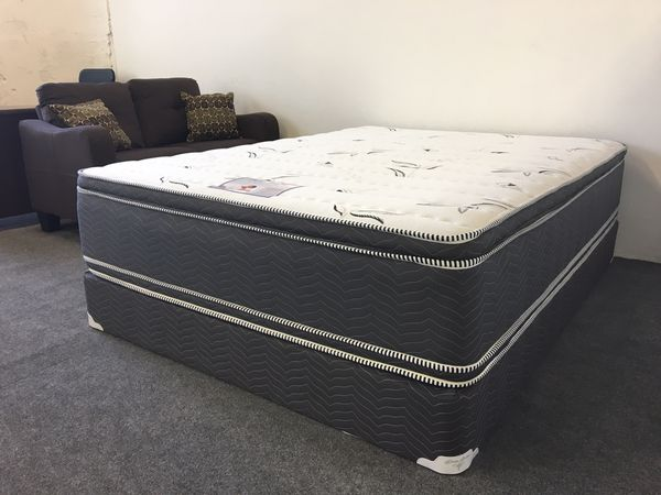 Eastern King Double Sided Pillow Top Mattress Set For Sale In Long