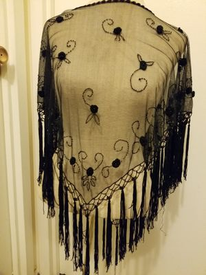 Black Sheer overhead Shawl for Sale in Silver Spring, MD