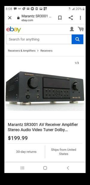Marantz SR8001 THX Select2 7.1 A//V Receiver  AC-1 AC POWER CORD