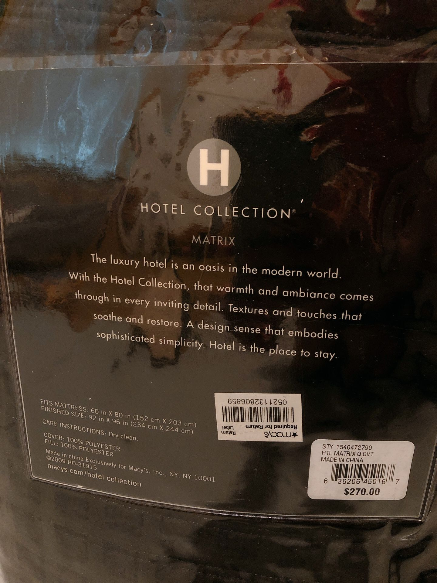 Hotel Collection Bedding Set: Comforter, Pillow Shams, Quilted Coverlet,