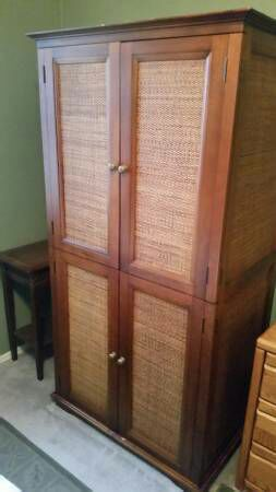 pier 1 tv stand. Pier 1 Imports Wicker \u0026 Wood Armoire TV Stand/ Cabinet For Sale In Glendale, AZ - OfferUp Tv Stand