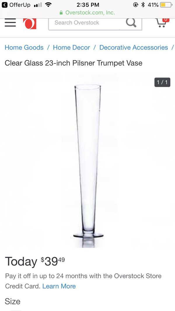 21 Trumpet Pilsner Centerpiece Vases 24tall For Sale In San Leandro