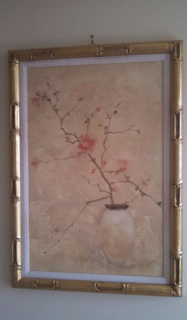 Asian Canvas in Gold Bamboo Frame (Arts & Crafts) in Durham, NC ...